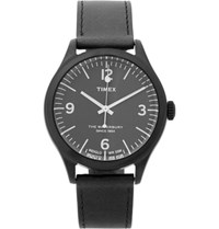 Timex Waterbury Stainless Steel And Leather Watch Black