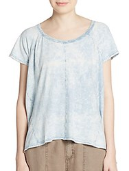 Michael Stars Draped Hi Lo Tee Light Mineral