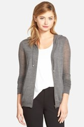 Cupcakes And Cashmere 'Arlington' Zip Front Hooded Sweatshirt Gray