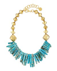 Turquoise Jasper Point Statement Necklace Nest Jewelry