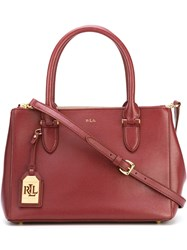 Polo Ralph Lauren Classic Tote Pink And Purple