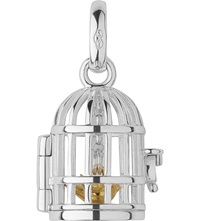 Links Of London Birdcage Sterling Silver And 18 Carat Gold Charm