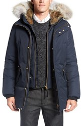 Mackage Men's 'Edward' Down Parka With Genuine Coyote And Rabbit Fur Trim Navy