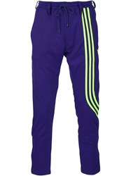 Y 3 Striped Track Pants Pink And Purple