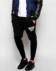 Izzue Jersey Joggers Black