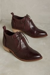 Anthropologie Kelsi Dagger Brooklyn Court Oxford Booties Wine