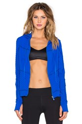 Trina Turk Bermuda Triangle Hooded Jacket Blue