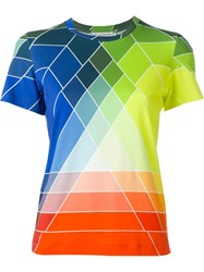 Mary Katrantzou Graphic Rainbow Print T Shirt Green