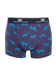 Joules Crown Dog Trunks Blue