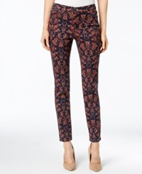 Charter Club Printed Bristol Skinny Ankle Jean Only At Macy's Deepest Navy Combo