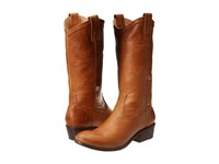 Frye Carson Pull On Cognac Washed Antique Cowboy Boots Tan