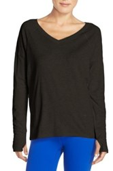 Zella Salutation Long Sleeve Tee Black