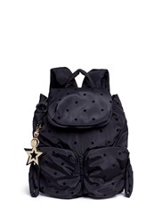 See By Chloe 'Joy Rider' Small Flocked Polka Dot Backpack Black