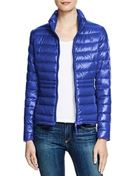 Aqua Packable Down Puffer Jacket Shiny Royal Blue