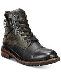 Guess Men's Rand Utility Cap Toe Boot Men's Shoes Black