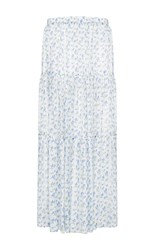 Flow The Label Floral Printed Maxi Skirt