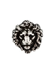 Saint Laurent Lion Ring Metallic