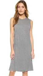 Alexander Wang Classic Overlap Dress With Pocket Heather Grey