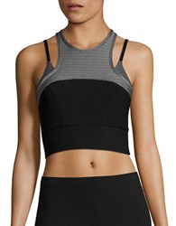 Mpg Cropped Performance Top Heather Charcoal