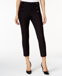 Bar Iii Mariner Cropped Pull On Pants Only At Macy's Deep Black