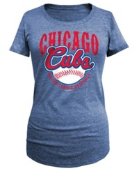 5Th And Ocean Women's Chicago Cubs Fast Pitch Scoop T Shirt Royalblue
