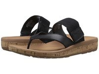 Rockport Weekend Casuals Keona Gore Thong Black Smooth Women's Sandals