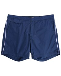 Hartford Navy Side Stripes Swim Shorts Blue