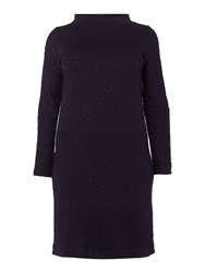 Persona Plus Size Oppla Jacquard Cowl Neck Dress Navy