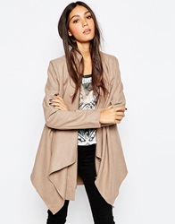 Religion Waterfall Coat Taupe
