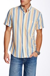 Gant Vacay Madras Short Sleeve E Z Fit Shirt Blue