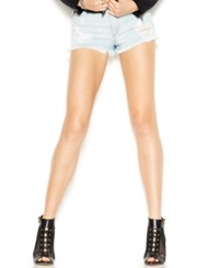 Guess High Rise Distressed Jean Shorts Sawtelle W. Destroy Wash