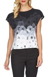Women's Cece By Cynthia Steffe 'Pansies Border' Ombre Print Tee