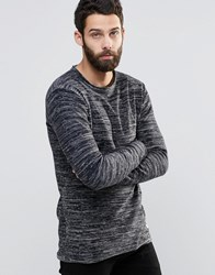 Only And Sons Spacedye Knitted Jumper Navy