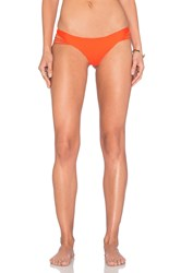 Luli Fama Verano De Rumba Strappy Buns Out Bikini Bottom Orange