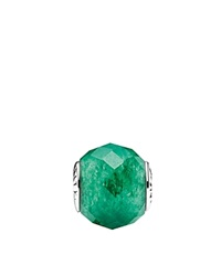 Pandora Design Pandora Charm Sterling Silver And Aventurine Prosperity Essence Collection Green
