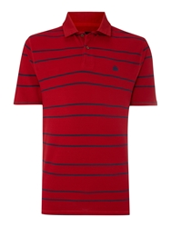 Army And Navy Ernest Striped Polo Red
