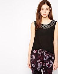 Vero Moda Sleeveless Top With Detailed Neckline Black