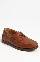 Men's Mephisto 'Boating' Water Resistant Leather Boat Shoe Hazelnut Leather