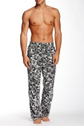 Bottoms Out Micro Fleece Printed Sleep Pant Gray