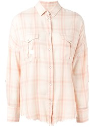 Iro 'Kaitlyn' Checked Shirt Yellow And Orange