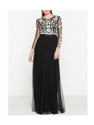 Needle And Thread Butterfly Open Back Maxi Dress Black