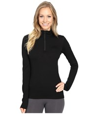 Icebreaker Oasis Long Sleeve Half Zip Black Women's Clothing