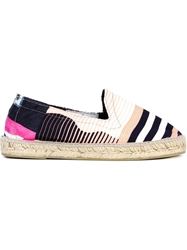 Pierre Louis Mascia Pierre Louis Mascia Striped Espadrilles Pink And Purple
