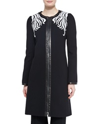 Andrew Gn Scrolling Embroidered Crepe Coat