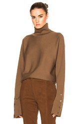 Tibi Turtleneck Sweater In Brown