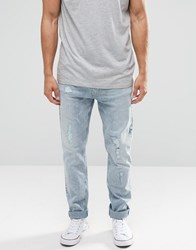 Nudie Jeans Brute Knut Drop Crotch Extreme Tapered Salty Icon Distressed Salty Icon Blue