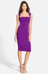 Women's Nicole Miller Ruched Jersey Pencil Dress Byzantium