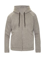 Alexander Wang Hooded Zip Front Scuba Sweatshirt Grey
