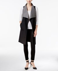 Calvin Klein Two Tone Wool Blend Vest Charcoal