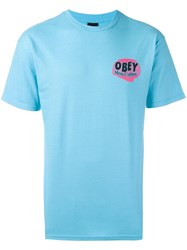 Obey 'Mind Control' T Shirt Blue